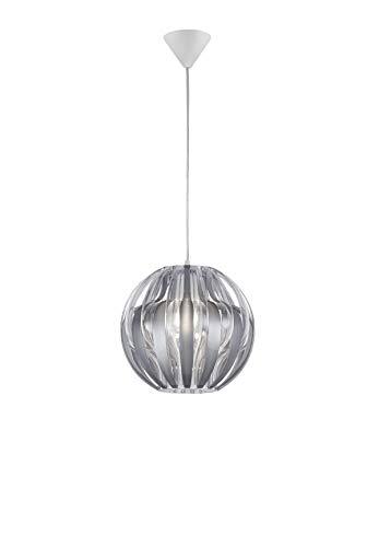 Reality Leuchten R30473089 Pumpkin A++ to E, Pendelleuchte, Acryl, E27, Transparent/Silberfarbig, 30 x 30 x 150 cm
