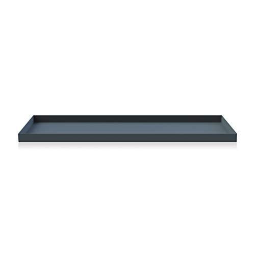 Cooee Design Tray Tablett, Edelstahl, Midnight Blue, L : 50, B: 18, H: 2 CM