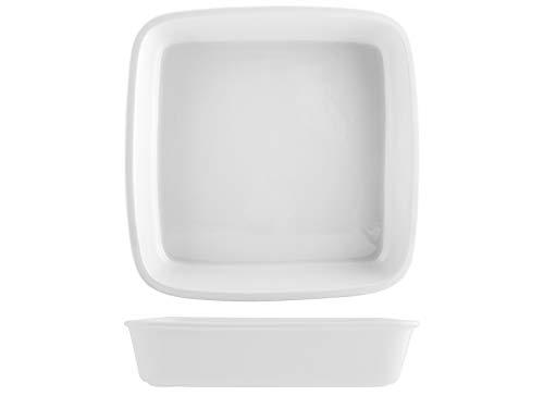 Saturnia 028451 Roma Plat carré en porcelaine Blanc 29 cm
