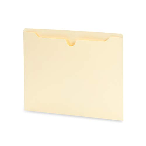 Blue Summit Supplies Manila File Jackets, Reinforced Straight Cut Tab, Designed for Use in Standard Hanging Files, Letter Size, 100 Pack