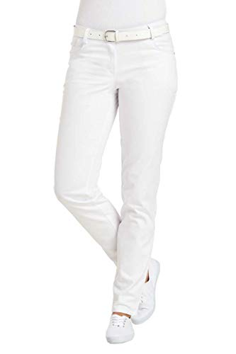 Leiber Hose Comfort-Style ca. 80cm SANFOR … (36 EU, Weiß)