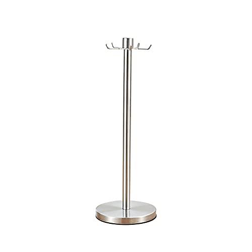 HelloCreate Estante de la espátula del estante del estante del utensilios de cocina del acero inoxidable con el soporte de 5 ganchos para los restaurantes caseros