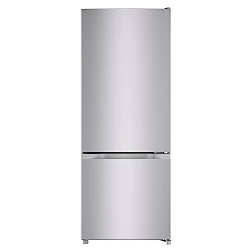 CHiQ, Bodenmontage, Low-Frost-Kühlschrank, 205 Liter, elektronische Steuerung, schwarzer Stahl, große Schubladen, Sortierfächer, einfache manuelle Abtauung