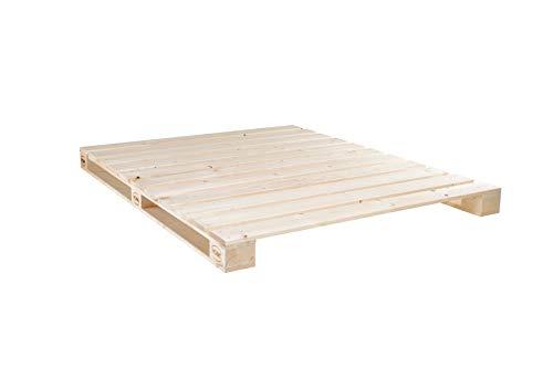 Schroth Home PALoma Paletten Bett 160x 200 – Bett aus Paletten – Doppelbett 160x200 – Das Familienbett
