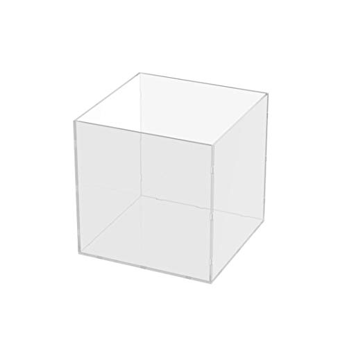 Danieli | Cubo Trasparente 40x40x40 | Espositori in plexiglass da vetrina per oggettistica ed Esposizione. Contenitore Trasparente Aperto da Un Lato.