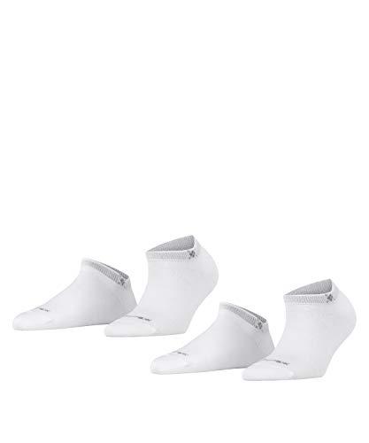 BURLINGTON Damen Sneakersocken Everyday 2-Pack - Baumwollmischung, 2 Paar, Weiß (White 2000),...
