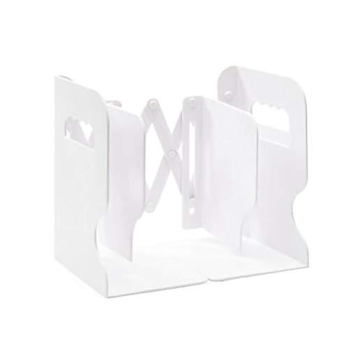 YYLL Libros telescópicos de Material plástico, Utilizado para Arreglar Libros, Almacenamiento Plegable con Soporte de Soporte de Escritorio de partición. (Color : White, Size : A)