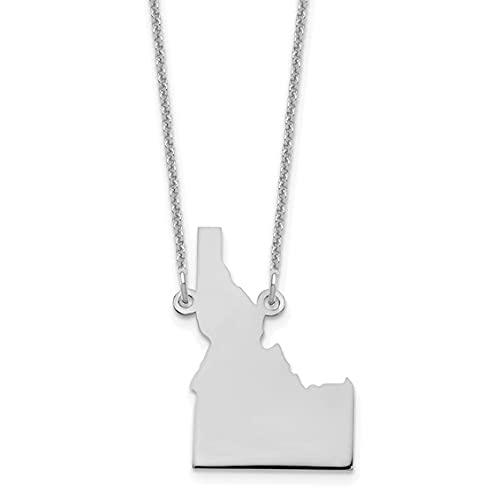Jewelry-14KW Idaho State Necklace