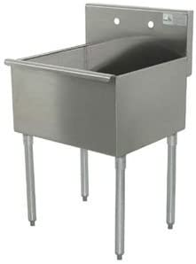 Advance Tabco 4-41-24 Square Max 53% OFF Corner Kitchen 1-Compartment New life Sink