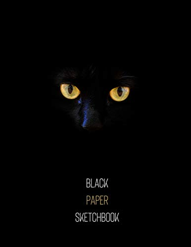 Black Cat Black Paper Sketchbook: Unleash the Creative Artist Within! | Large Artsy Blank All Black Pages Sketchpad for Art, Drawing, Painting & ... Design Sketchbook for a Creative Artist)