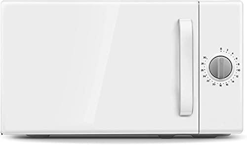 Horno de microondas de alta potencia de 1050W, Mini microondas giratorias, horno de microondas con calefacción mecánica, calefacción tridimensional de 360 °, temporizador de 30 minutos, capacidad 20L