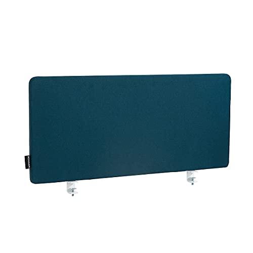 Novigami Tischtrennwand Curve | HxBxT 400 x 1600 x 29 mm | Blau | Schallschutz Raumtrenner Raumteiler