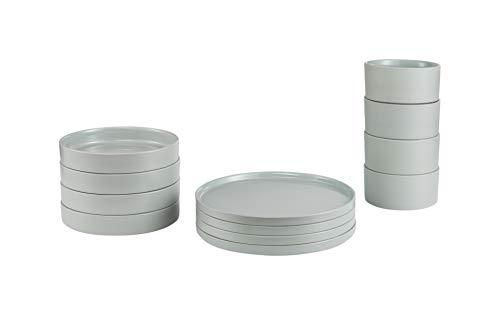 blomus 64217 Tafel-Set -PILAR- Mirage Gray, Keramik