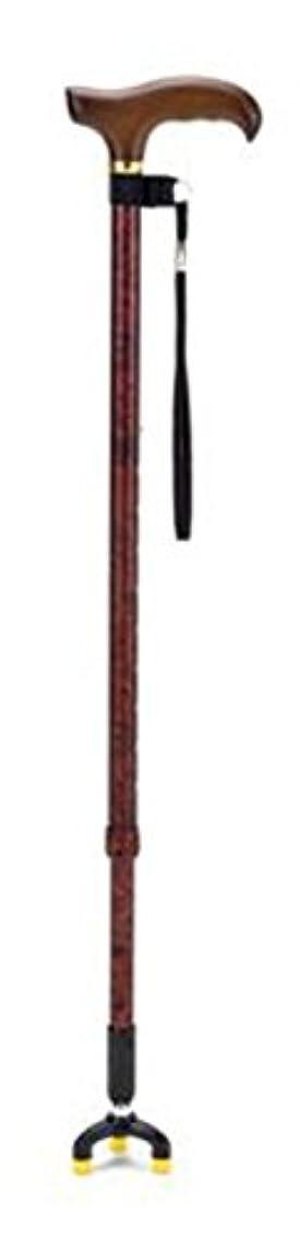 うめき声焦げ借りているマキテック セーフティステッキ(3点杖) ブラウン TS-30BR