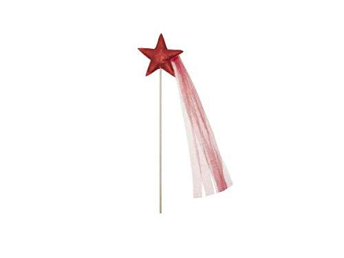 Mouche-Paris Baguette étoile - Pailettes Rouge + Tulle assorti