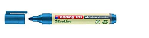 Edding marker voor whiteboards met ronde punt, Fast-Box zonder geur, lijndikte 1,5 – 3 mm Caja de 10 blauw