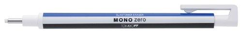 Tombow Mono Zero - Gomma di precisione a penna con punta tonda, 2 ricariche incluse, colore bianco