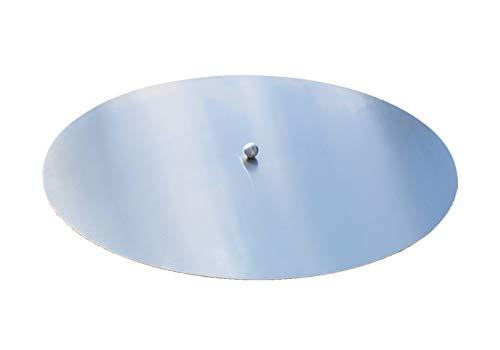 VEIKIN DESIGN Deckel aus Edelstahl für Feuerschalen, Durchmesser Ø 60 cm, Kugelgriff, Edelstahl Premium Qualität !