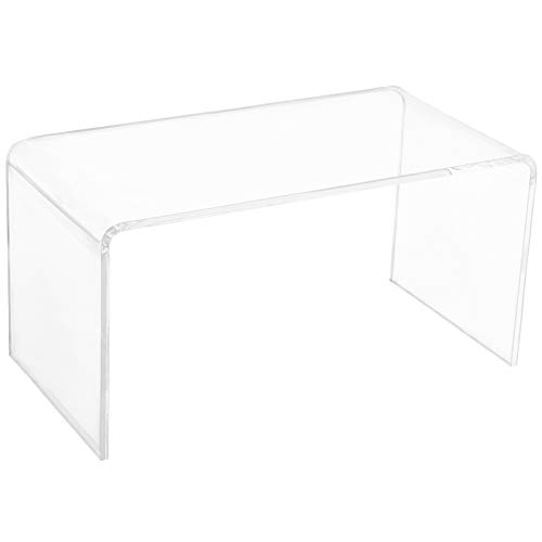 "HOMCOM 32"" Rectangle All Acrylic 20mm Waterfall Coffee Table- Clear"