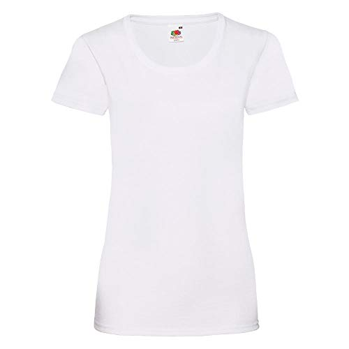 Fruit of the Loom - Lady-Fit Valueweight T - Modell 2013 M,White
