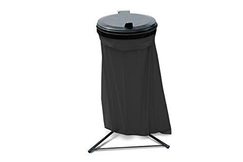 GRASEKAMP Qualität seit 1972 Abfallsammler Talent mit Deckel und 10 120L Müllsäcken Müllsackständer
