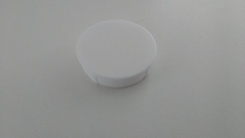 4 Stück – Weisse Abdeckkappen Abdeckknöpfe Bohrlochkappen zum Eindrücken für 35 mm Bohrloch - z.B. für Scharnierbohrung- LIVINDO