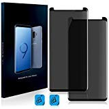 Homy Compatible Privacy UHD Screen Protector for Samsung Galaxy NOTE 9 [2-Pack] - Free Camera Lens Cover. Anti Spy Filter Made of 9H Curved 3D High Clarity Full Cover Japanese Tempered Glass.