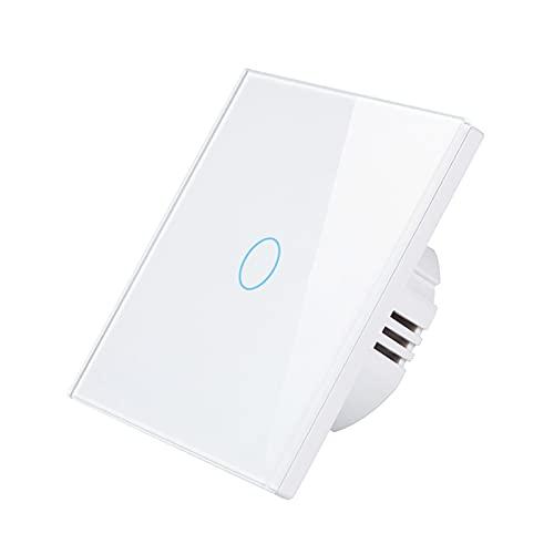 Romellar Smart Interruttore della luce Wi-Fi Touch Switch compatibile con Alexa e Google Home, programmazione, timer, telecomando, RF433, conto alla rovescia, non richiede alcun neutro e hub