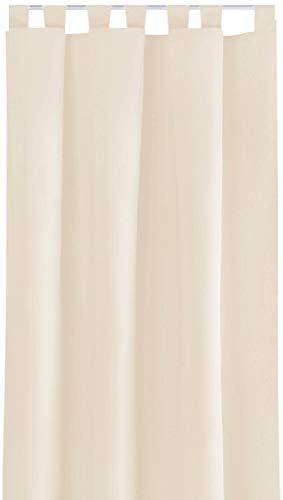 Bestlivings Blickdichte Gardine mit Schlaufen (140x245 cm/Beige), in vielen Variationen