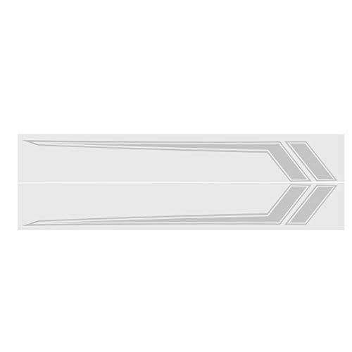 C-FUNN auto zijdeur Stripe Stickers Decoratie Decals 170x23cm Paar voor Dodge Ram 2009-2018 Grijs Zilver