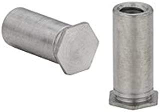 13mm Length, 4.5mm OD Hex Standoff Pack of 10 Female Stainless Steel M2.5-0.45 Screw Size