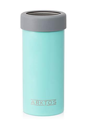 Enfriador de latas delgado de acero inoxidable de doble pared aislado (Aqua)