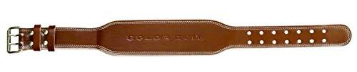 ゴールドジム(GOLD`S GYM) プロレザーベルト G3324 M:75-85cm目安 【中級者~上級者】 革の質・厚み・操作性に優れた最上級モデル 腰 体幹 補助 スクワット デッドリフト ベンチプレス シーテッドローイング ラットプルダウン 【ゴー
