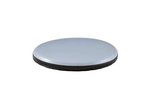 GLEITGUT 4 x Teflongleiter selbstklebend rund 70 mm - Möbelgleiter mit PTFE-Gleitfläche für Sessel Sofas und Klaviere