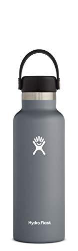 Hydro Flask Standard Mouth Water Bottle, Flex Cap - 24 oz, Stone