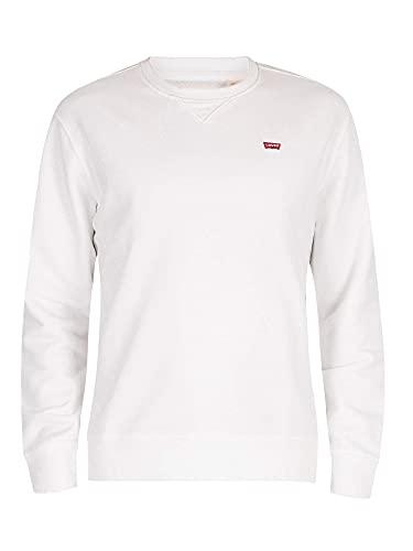 Levi's Herren Crew Sweatshirt, White, M
