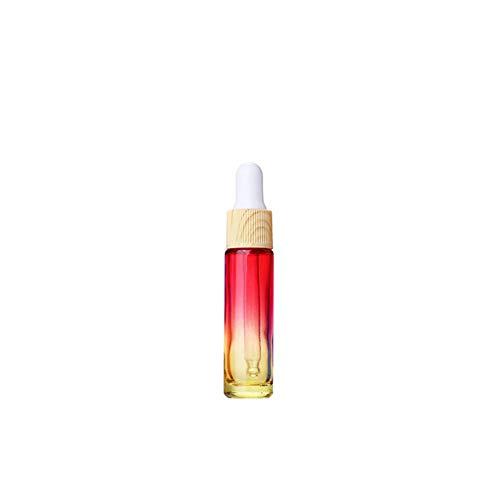 IKulilky 10ML Flacon Compte-Gouttes en Verre, Réutilisables Spray Bottle Blanc Cover Small Perfume Bottle Compte-Gouttes Gradient Couleur Épaisse Flac