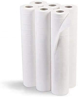Rollo de papel camilla 75m | (Precortado 40 cm) 6 Unidades (1.5 kg por unidad) ECO blanco