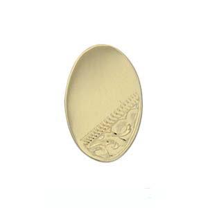 Pince à cravate 12x8mm en Or Jaune 9ct - 375/1000 de forme ovale avec coin gravé à la main