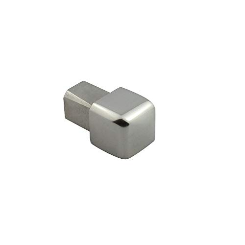 Quadrat Ausseneck Edelstahl 11mm glänzend
