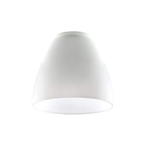 MiniSun – Ersatzlampenschirm Glas Weiss, kuppelförmig (3er Set) – Ersatz Lampenschirm Glas – Lampenglas Ersatzglas – Ersatzschirm Glas (Weiß, Milchglas)