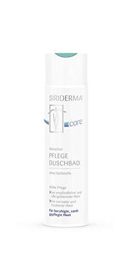 SIRIDERMA care Basisches Pflege-Duschbad | Ohne Duftstoffe | 250 ml | Ohne Alkohol | Veganes Duschgel für extrem empfindliche Haut