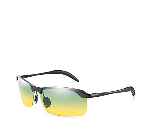 Gafas de sol polarizadas rectangulares de moda deportes al aire libre deslumbramiento conducción visión nocturna gafas 13-Kpry3043Po-C11