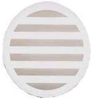 Plastic Trends 4 in. White Round PVC Drain Grate