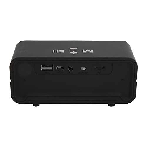 Altavoz Bluetooth inalámbrico, Altavoz subwoofer Bluetooth portátil, Puede contestar el teléfono, admite Tarjetas de Memoria y Discos U, con Cable de Carga Micro USB(Plata)