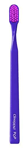Clinodent Pop Viola. Hoogwaardige tandenborstel van Tynex van Media Smussate in punt, 20 g