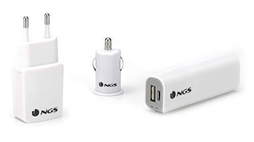 NGS Herzog Smartphone Travel Kit - powerbank, auto & muur laders en 8GB micro-SD-kaart