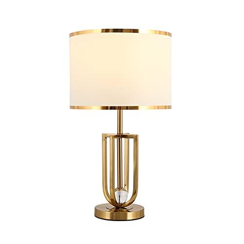 NYKK Lampe à Poser Lampe de Table Moderne Abat-Jour en Tissu de Lin avec Base Creuse doré, Base de Salon et Chambre à Coucher, Salon (55 cm de Hauteur) Lampe de Table Décorative