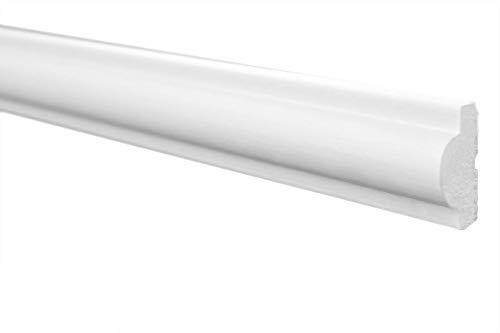 Marbet Deckenleisten aus Styropor XPS - Hochwertige Stuckleisten leicht & robust im modernen Design - (20 Meter Sparpaket E-27-11x23mm) Wandleiste