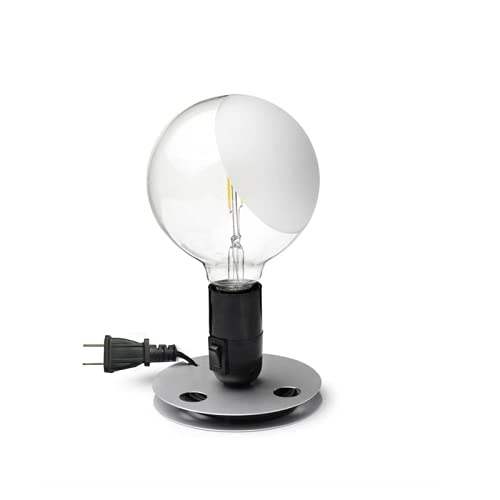 Flos Bombilla LED lámpara de mesa negra 110 V UL by Achille Castiglioni - Negro
